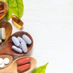 Variety of vitamin pills